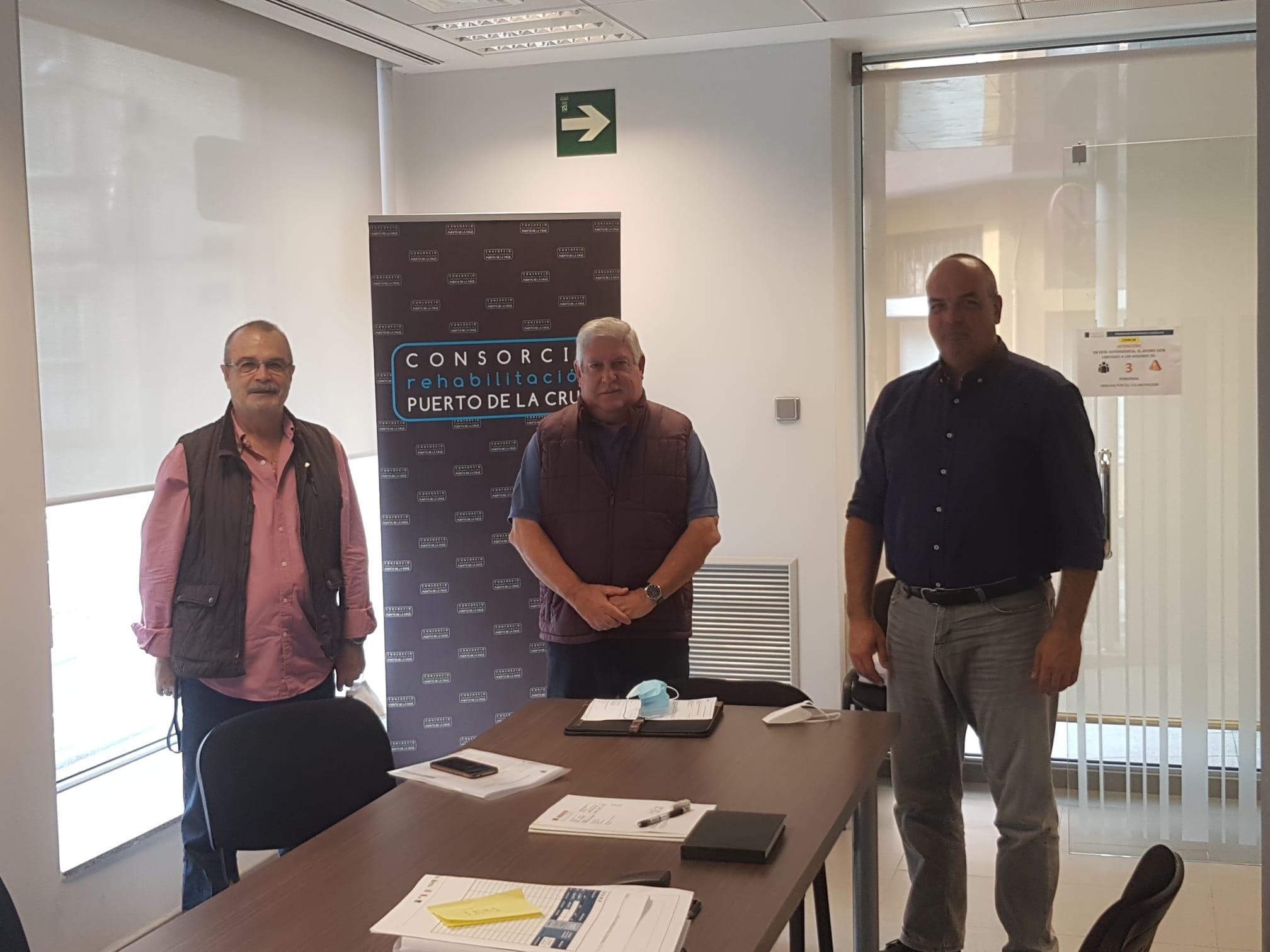 Reunión con el gerente del Consorcio de rehabilitación del Puerto de la Cruz